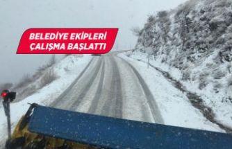 İzmir'de kar başladı!