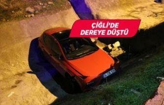 İzmir'de polisten kaçan 14 yaşındaki sürücü dereye düştü