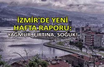İzmir'de yeni haftada; yağmur, fırtına, soğuk!