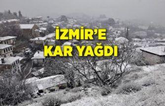 İzmir'de yüksek kesimlerde kar yağışı etkili oldu