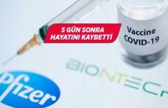 Pfizer-BioNTech'in corona aşısını yaptırdıktan sonra öldü