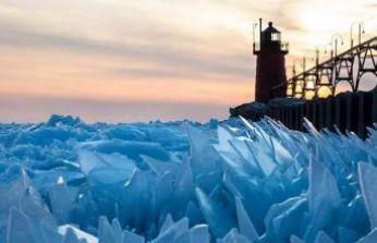 Michigan Gölü'nden masal gibi kareler