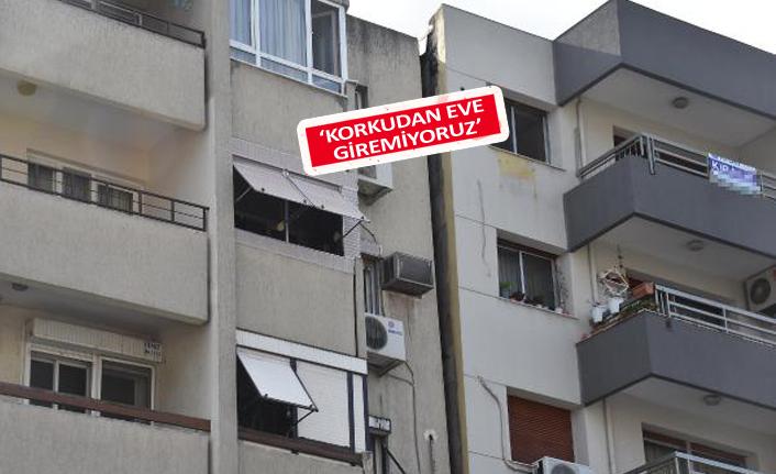 İzmir'in eğik apartmanlarında tehlike sürüyor