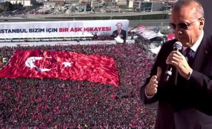 Erdoğan mitinge kaç kişinin katıldığını açıkladı