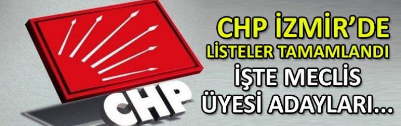 CHP ve İYİ Parti'nin İzmir'de meclis üyesi adayları belli oldu