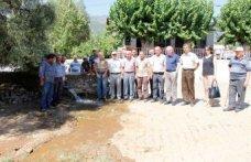 Mursallı Mahalle sakinleri  sulama suyu hattına kavuştu