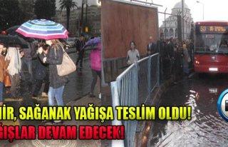 İzmir'de Yağmur Etkili Oldu!