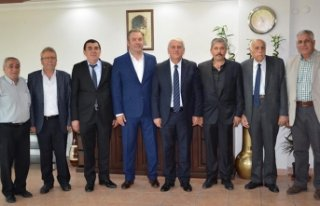 Bucalı başkanlardan Mutlu'ya tebrik ziyareti