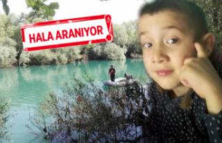 Irmakta kaybolan 5 yaşındaki Samet aranıyor