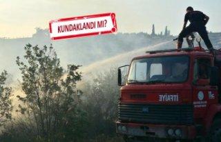 Kemalpaşa'da yangın! 3 hektarlık alan zarar...