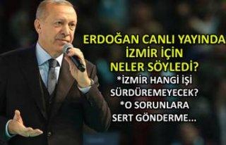 Erdoğan'dan İzmir'e 'yerel yönetim'...