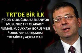 İmamoğlu TRT Haber'de canlı yayında soruları...
