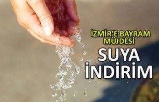 İzmir'de suya indirim