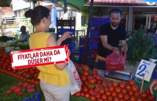 Taze meyve sebze geldi, fiyatlar düştü