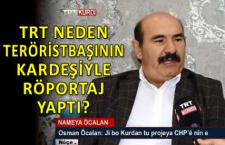 TRT, teröristbaşı Öcalan'ın kardeşiyle...