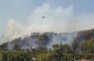 Antalya'da yangın! Antik Kent tehdit altında