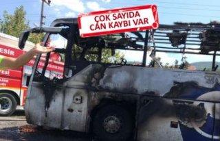 Balıkesir'de otobüs alev aldı: Ölü ve yaralılar...