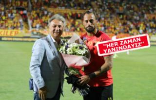 Başkan İduğ Göztepe'yi ilk maçında yalnız...