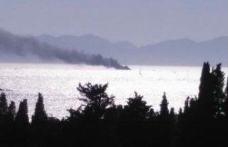 Bodrum'da tekne yandı; 6 kişi kurtarıldı
