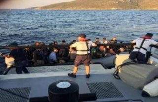 Çeşme'de 75 kaçak göçmen yakalandı