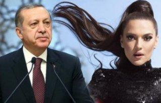 Cumhurbaşkanı Erdoğan, Demet Akalın'a teşekkür...