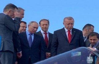 Erdoğan ve Putin havacılık fuarını açtı