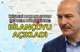 İçişleri Bakanı Soylu, deprem bölgesinde: Bilançoyu...