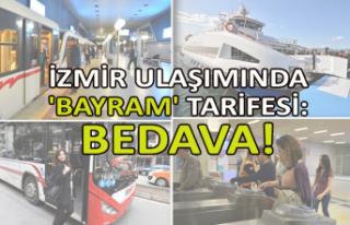 İzmir ulaşımında 'bayram' tarifesi