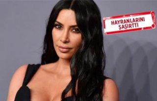 Kim Kardashian'ın makyajsız hali olay oldu