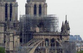 Notre Dame Katedrali'nin onarımında iş güvenliği...