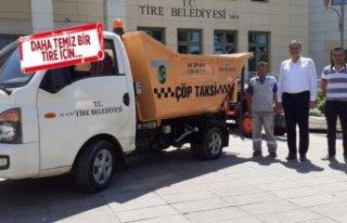 """Tire'de """"Alo Çöp Taksi"""" uygulaması..."""