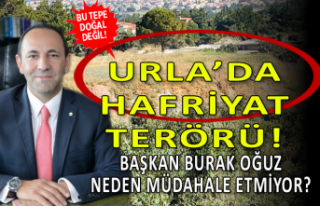 Urla'da hafriyat terörü! Başkan Burak Oğuz...