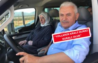 Yıldırım, İzmir- İstanbul otoyolunda direksiyon...