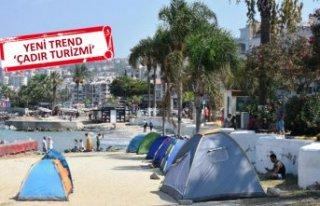 Bu yaz tatilcilerin yeni trendi 'çadır turizmi'...