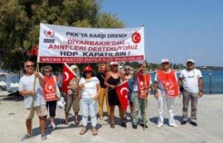 Datça'dan Diyarbakır annelerine destek