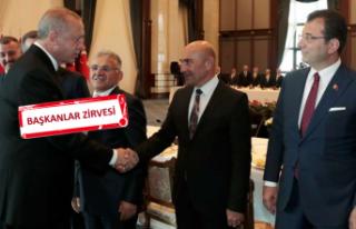 Erdoğan büyükşehir belediye başkanları ile buluştu