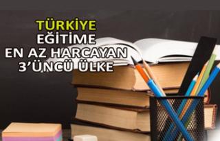 Türkiye eğitime en az harcayan 3'üncü ülke