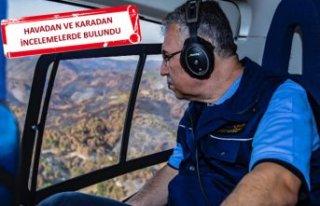 Yeni müdür İzmir'deki yangın bölgesinde...
