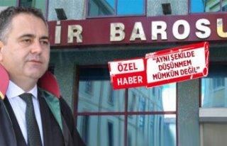 Eski Başkan Aydın Özcan'dan, İzmir Barosu'nun...