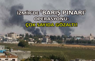 İzmir'de 'Barış Pınarı' operasyonu:...