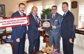 İZTO heyetinden Bakan Turhan'a ziyaret