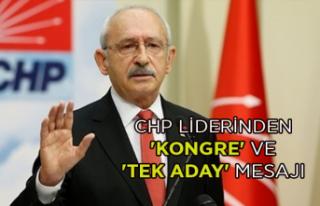 CHP Liderinden 'Kongre' ve 'tek aday'...