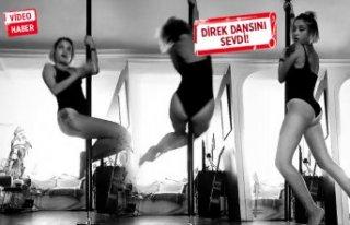 Güliz Ayla direk dansını sevdi!