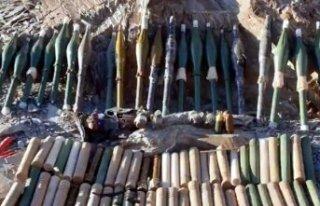Kıran-6'da PKK'ya ait silah ve mühimmat ele...