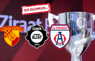 Türkiye Kupası'nda İzmir takımlarının rakipleri...