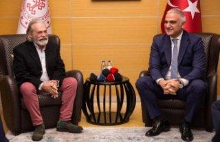 Bakan Ersoy, Haluk Bilginer'i kabul etti