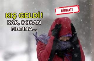Kış geldi: Kar, boran fırtına…