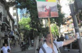 Buenos Aires'te Kobani Eylemi