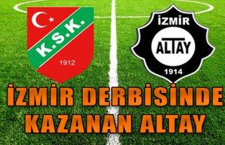 İzmir Derbisinde Kazanan Altay