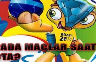 Dünya Kupasında Program Belirlendi